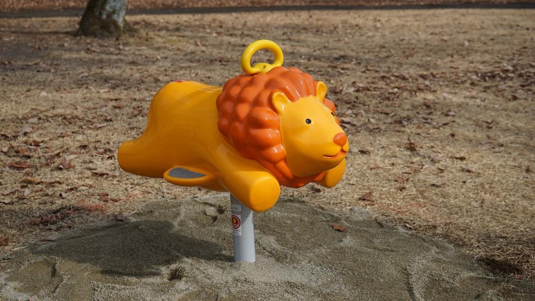 NEW! 【リトルポップ ライオン】 対象年齢3~6歳 1人乗り 前後にやさしく揺れるリンクという種類の遊具です。