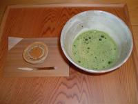 創業天明七年 綿半の日の輪と本格的な御抹茶のセット。この他にも、日の輪と煎茶のセット(日光セット)もございます