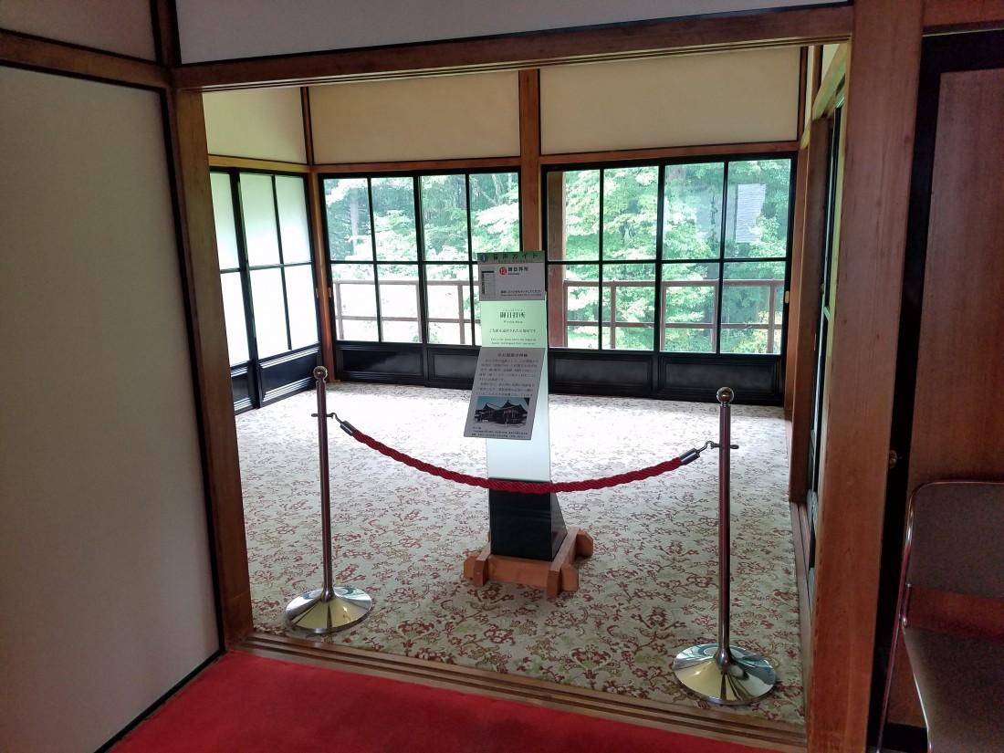 二階「御日拝所」室内特別公開