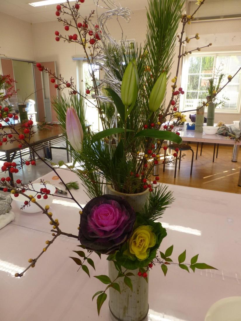 伝統文化~正月花を生けよう~