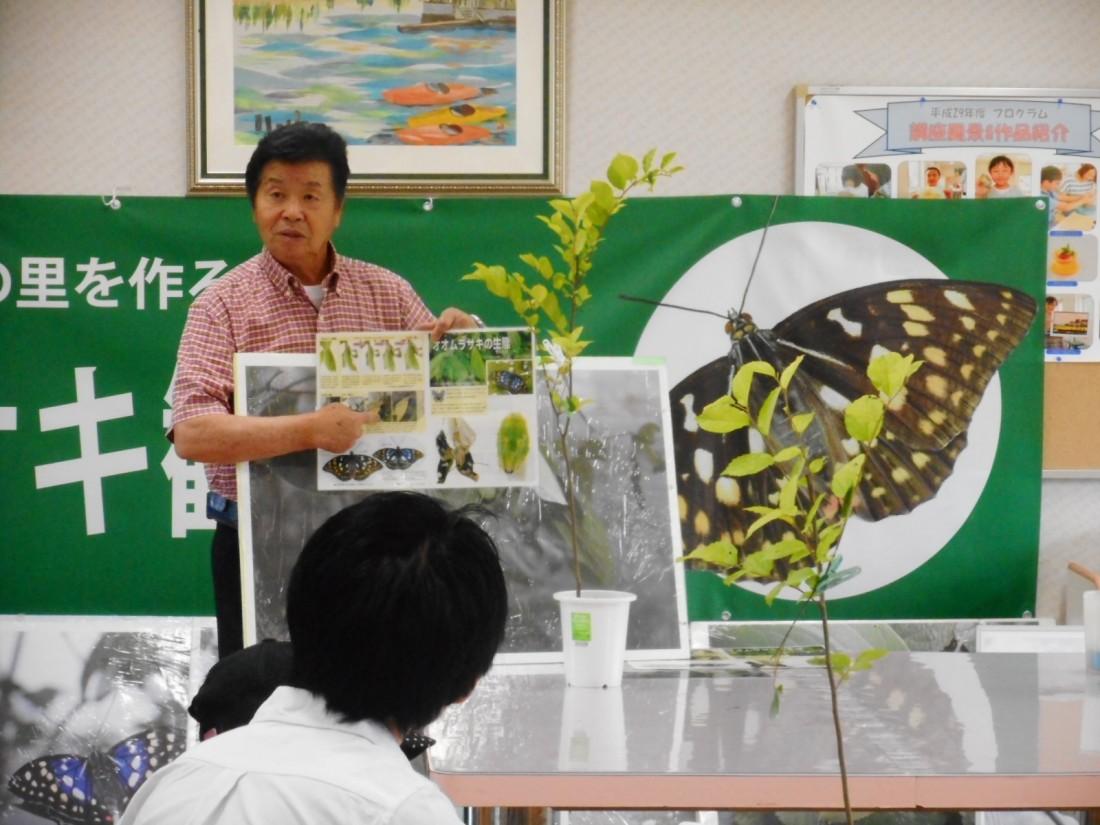 オオムラサキの放蝶会