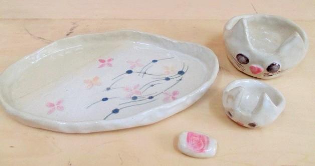 大人の陶芸教室【手びねり】・【釉掛け】 *連続講座